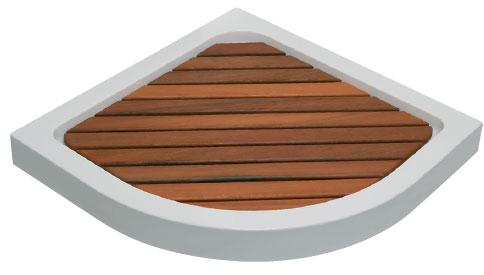 Tarima syan angular de madera de iroko para plato de ducha - Tarimas para ducha ...