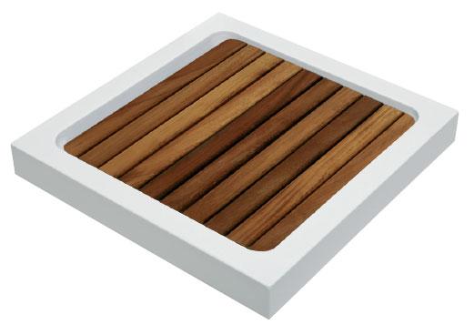 Tarima syan cuadrada de madera de iroko para plato de ducha - Tarima plato ducha ...