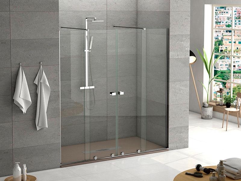 Mampara ducha 2 fijos + 2 puertas Manhattan