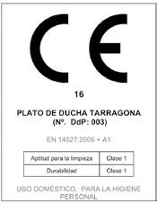 Certificado Calidad Plato Ducha resina Tarragona