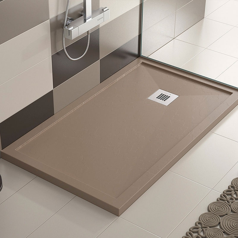 Platos de ducha de carga mineral pizarra