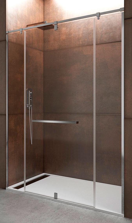Mampara para ducha giratoria con dos cristales fijos GME giro 360º
