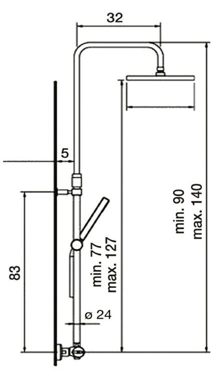 Medidas barra ducha GME Inverter R