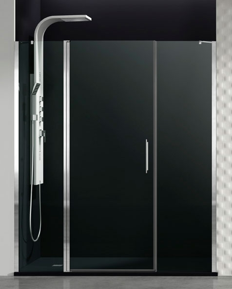 Mampara de ducha fijo + puerta abatible Open Combi E