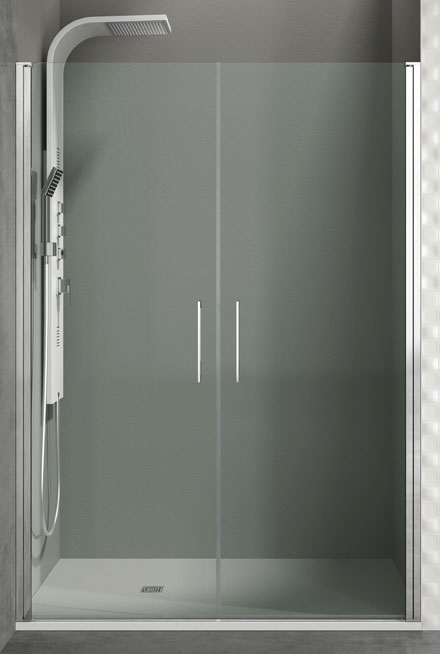 Mampara frontal de ducha con 2 puertas abatibles Open Combi I