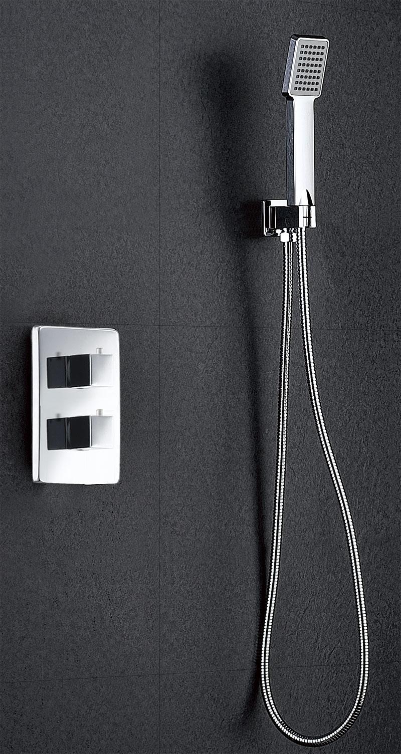 Conjunto ducha termostática empotrada Cies