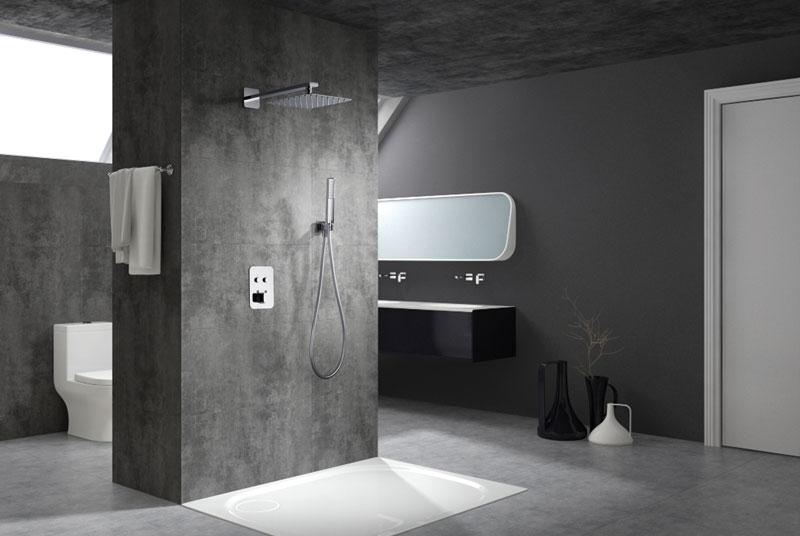 Conjunto ducha termostática empotrada Madeira