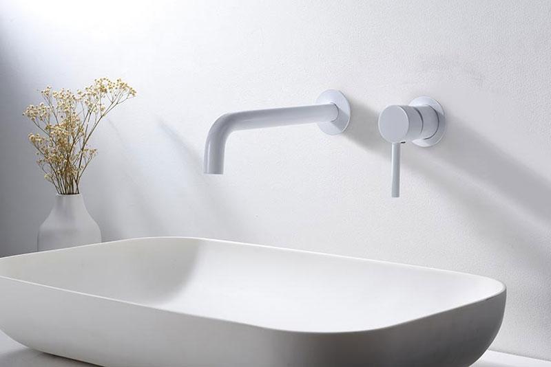 Grifo empotrado lavabo Etna blanco