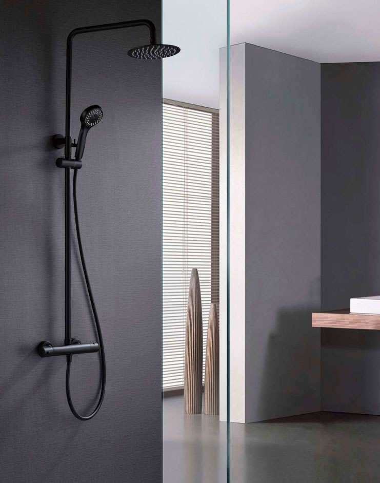 Columna ducha termostática Londres color Negro