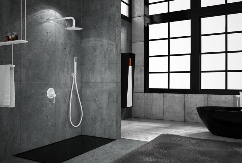 Kit de ducha empotrada Milos Blanco