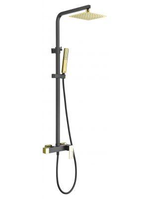 Conjunto ducha Imex Suecia Negro Oro BDC032-NGOLD