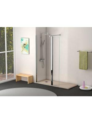 Mampara fija ducha abierta Becrisa In-Out con puerta